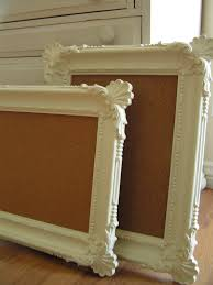 do able thrift frames spray paint cork boards this would be cute with chalkboards