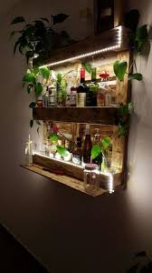 Palettenregal Bar Aus Paletten Mit Led Beleuchtung Holz Diy