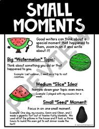 Small Moment Watermelon Anchor Chart Small Moments Writing Poster Anchor Chart