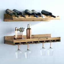 wall mounted wine glass rack wall mount wood wine rack 2 piece 8 bottle wall mounted
