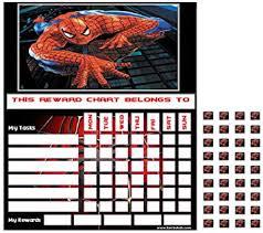 Spiderman Reward Chart Spiderman Childrens Good Behaviour Reward Task Chart Amazon