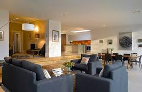 living room extension. different ceiling heights living room contemporary with kitchen in extension transitional counter height stools