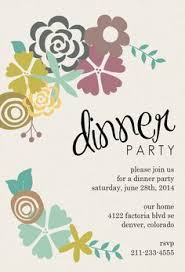 Invitation Card For Dinner Party Modern Floral Dinner Party Invitation Dinner Parties Dinner