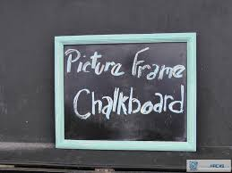 this picture frame chalkboard is so easy all you need is an old picture frame any size will do and black chalkboard paint first remove the glass from