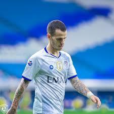 جيوفينكو يتعرض للأصابة ويغيب عن مباراة ضمك