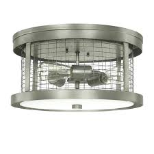 3 light ceiling fixture brushed steel mount round