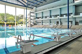Indoor Olympic Size Swimming Pool Stock Image Image of empty swim