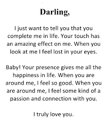 Darling Romantic Love Letter For Him