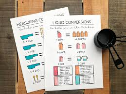 Conversion Chart Quarts To Cups How Many Cups In A Quart Kitchen Conversion Printables