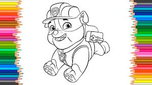 Paw Patrol Rubble Coloring Pages L Coloring Book Fun Videos For