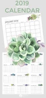 free printable 2019 monthly calendar free printable calendar 2019 todays creative life