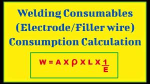 Hindi Urdu Welding Consumables Electrode Filler Metal Consumption Calculation