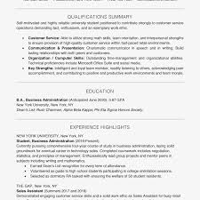Resume Sample Qualifications Student Resume Examples and Templates 24