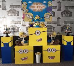 Minion Birthday Party Minions Birthday Party Styling Setup Custom Props Little Wish
