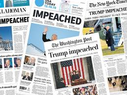 Historic rebuke': what the US papers say about Trump's impeachment | Trump  impeachment