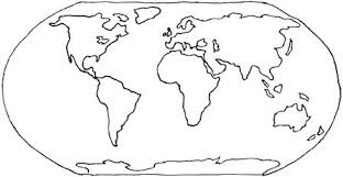Printable Blank World Map Coloring Page Free Coloring Pages On Art