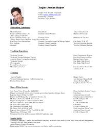 Dance Resume Templates Dancer Resume Format Httpwwwresumecareerdancer Resume Dance Resume 1