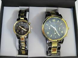 Mens Designer Watch Gift Set His Mens And Hers Womans Matching Designer Dress Wrist Watch Watches Gift Set