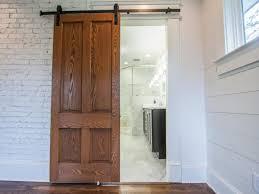 sliding barn doors for bathroom. Simple Doors Sliding Door In Bathroom Entryway For Barn Doors DIY Network