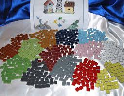 mosaic tiles 3 8 glossy one sided tiles