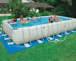 Intex 24 x 12 x 52 Ultra Frame Rectangular Pool Set 1500 Filter