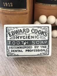 Edward Cooks Hygienic Tooth Soap Pot Lid w/base – Rectangular ...