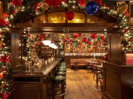 During the holidays, a dough bowl filled with ornaments is the easiest way to make a beautiful statement on a coffee table. 23 Nyc Restaurants With Holiday Decorations Eater Ny
