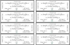 ticket sample template dinner ticket template gala free fresh benefit tickets