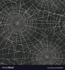 Spider Web Pattern Simple Halloween Themed Seamless Pattern Spider Web Vector Image