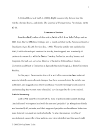 literature review example apa co article review writing sample