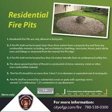 Residential Fire Pit Permits City Of Grande Prairie