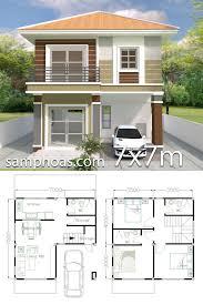 Home design plan 7x7m with 3 bedrooms - SamPhoas plan#7x7m #bedrooms  #design #home #plan … in 2020 | Small house design plans, Small modern  house plans, Duplex house design