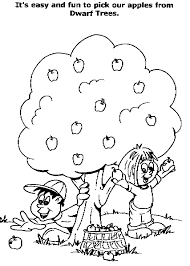 Small Picture Apple Tree Coloring Page Coloring Home