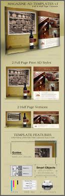 Print Ad Templates v3 Full & Half Page Designs by CursiveQ ...