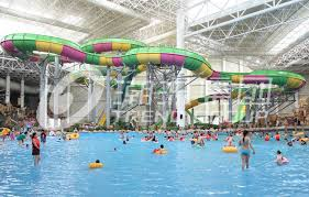 china colorful aqua park equipment customized fiberglass water slides for water park supplier