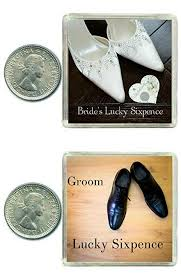 2 lucky wedding sixpence coins for the bride groom traditional idea for the bride