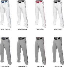 Easton Baseball Pants Size Chart Easton Mako 2 Adjustable Length Baseball Pant With Piping Adult