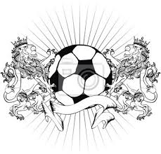 Nálepka Lev Heraldický Erb Tetování Tshirt Fotbalový Míč