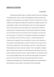 essay positive attitude utilizing the writing process and the four  psycho essays
