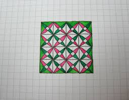 patterns to draw on graph paper geometric doodle pattern 1 youtube