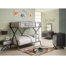 carter 5 piece twin bunk bed bedroom set 13664672 overstock modern bedroom furniture boys ashley leo twin bedroom set