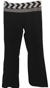 Patterned Yoga Pants Mesmerizing Lululemon Black Patterned Yoga Activewear Pants Size 48 M Tradesy