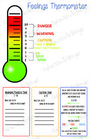 Visual Feelings Chart Feelings Thermometer Chart Digital Download Behavior Visual Schedule Asd Anger Management Autism Adhd Emotions