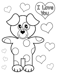 I Love You Coloring Pages Dog Coloringsuite Com Ribsvigyapan Com I