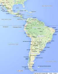 south america map including central america links to country maps