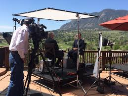 interview set up for 60 minutes sports