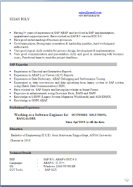 related resume format for mca freshers sap abap fresher cv sap resume samples sample resume for sap sample resumes
