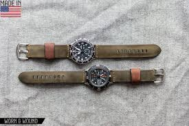 timepieces new watch straps from worn wound essential style for worn wound s model 1 horween in olive
