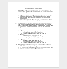 research outline template formats examples and samples