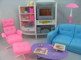 barbie furniture for dollhouse. barbie size dollhouse furniture family room tv otto sofa new for e